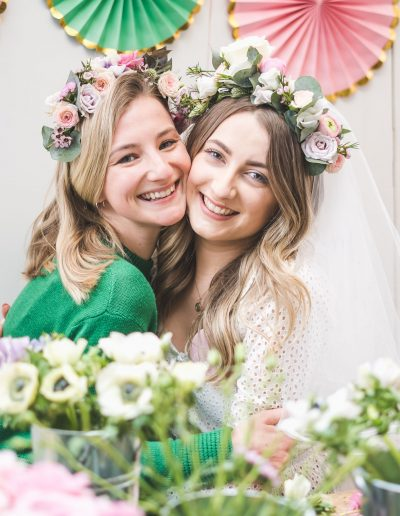 Flourish and Grace flower crown workshop