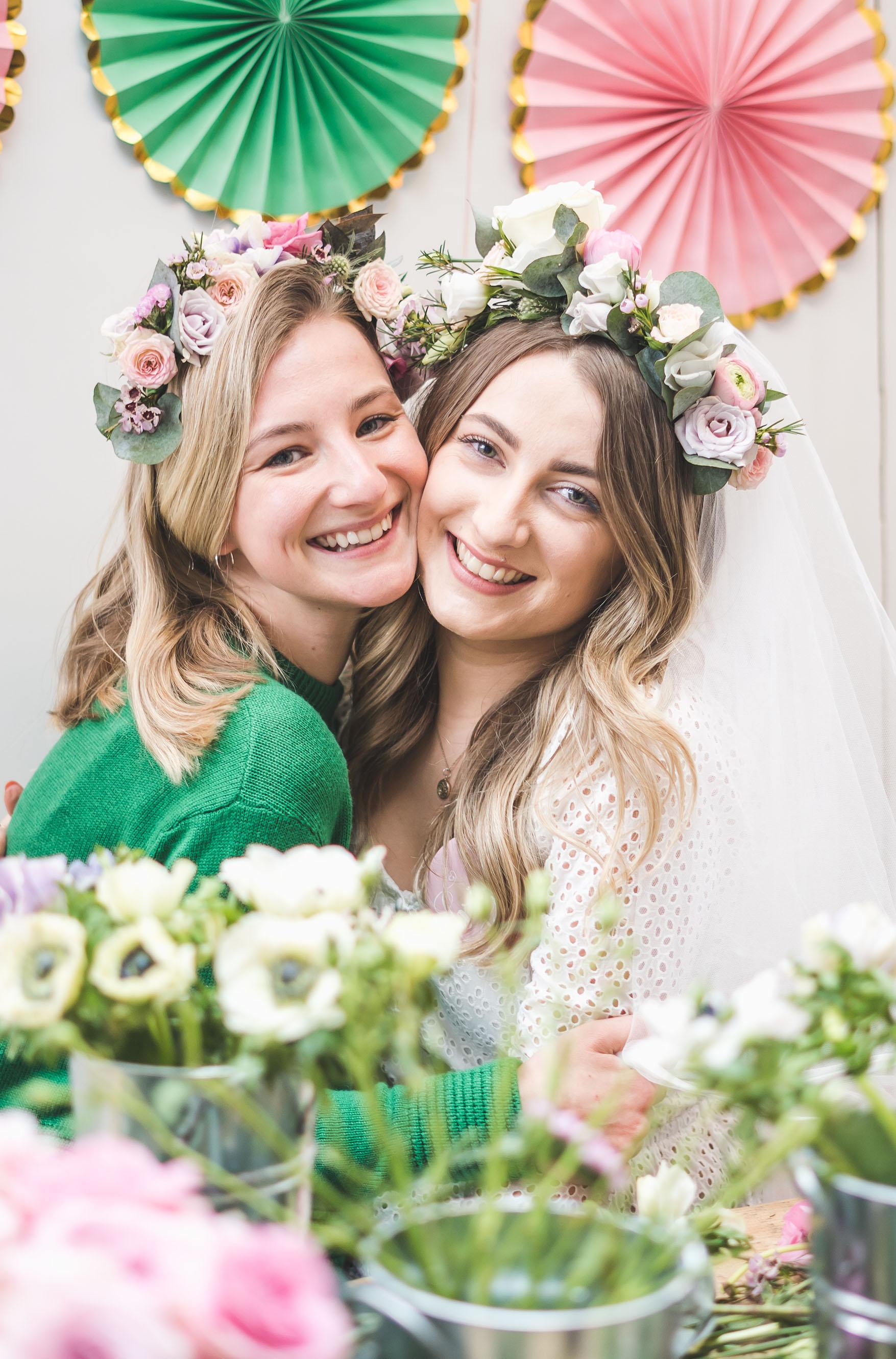 Flourish and Grace flower crown workshop