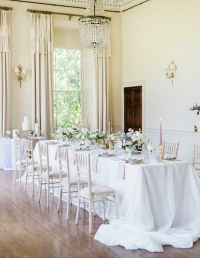 Fine art Wedding table and mantlepiece flowers by Flourish and Grace