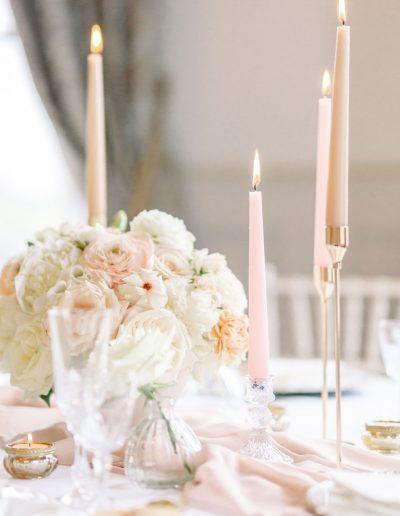 Wedding Table flowers at Bourton Hall by Flourish and Grace, Bristol Wedding Florist