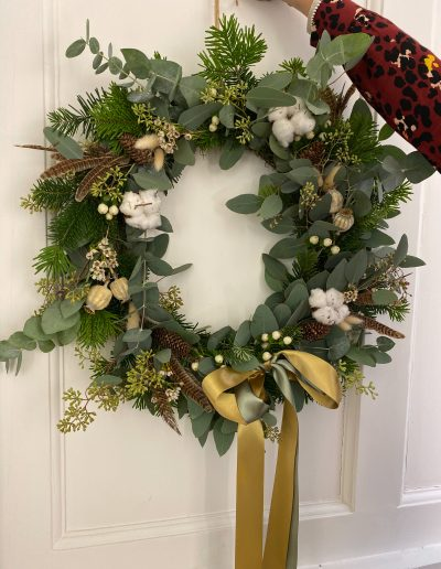 Bristol wedding florist Flourish and Grace christmas wreath workshop bath