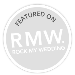 rock my wedding badge