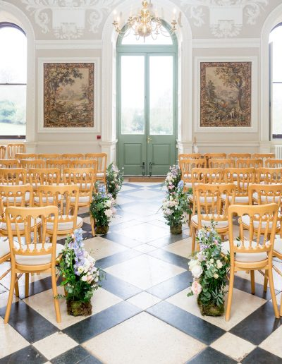 Flourish and Grace wedding aisle flowers
