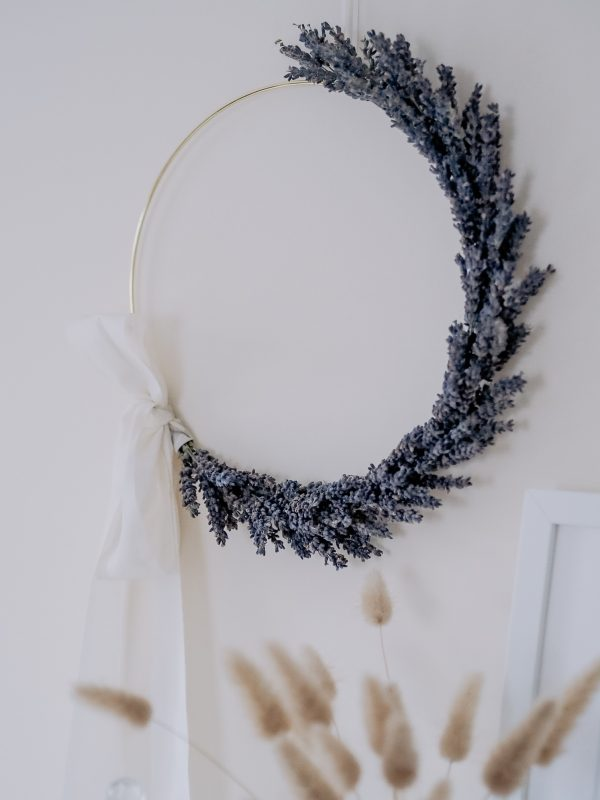 Dried lavender wreath by Flourish and Grace