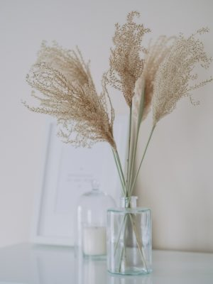 Fluffy reed grass bunch by Flourish and Grace