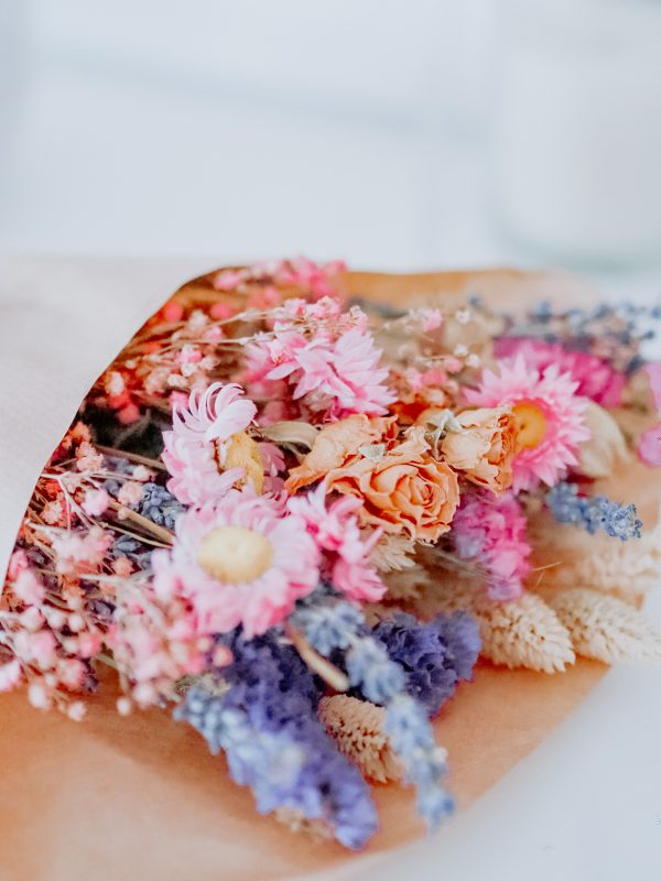 Mixed bouquet pink and purple small by Flourish and Grace