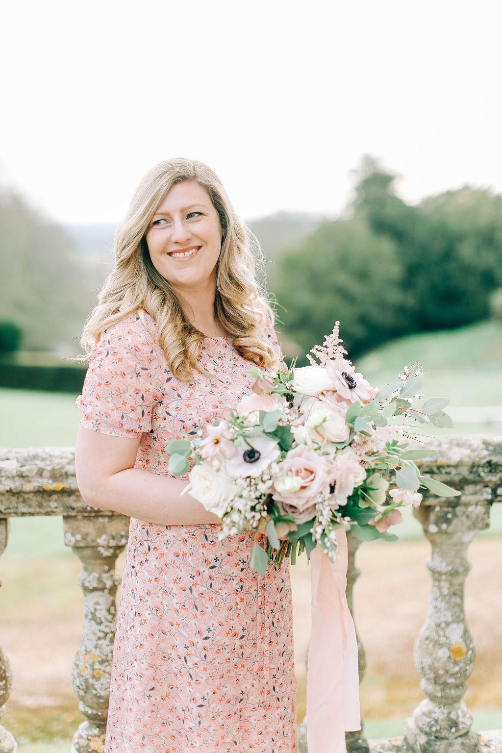 Zoe florist at Flourish and Grace wedding flowers south west