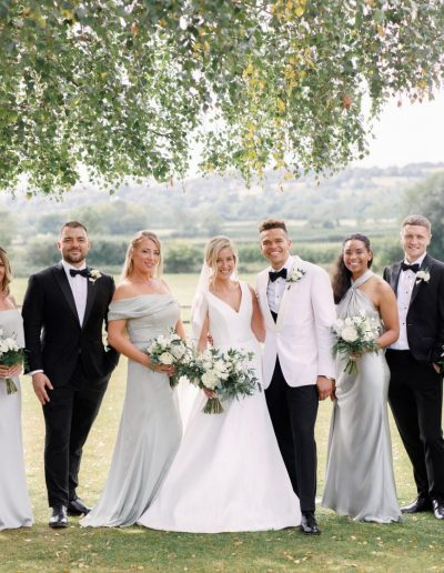 Cotswolds wedding at Hyde House Barn with flowers by Flourish and Grace and photography by White Stag Weddings